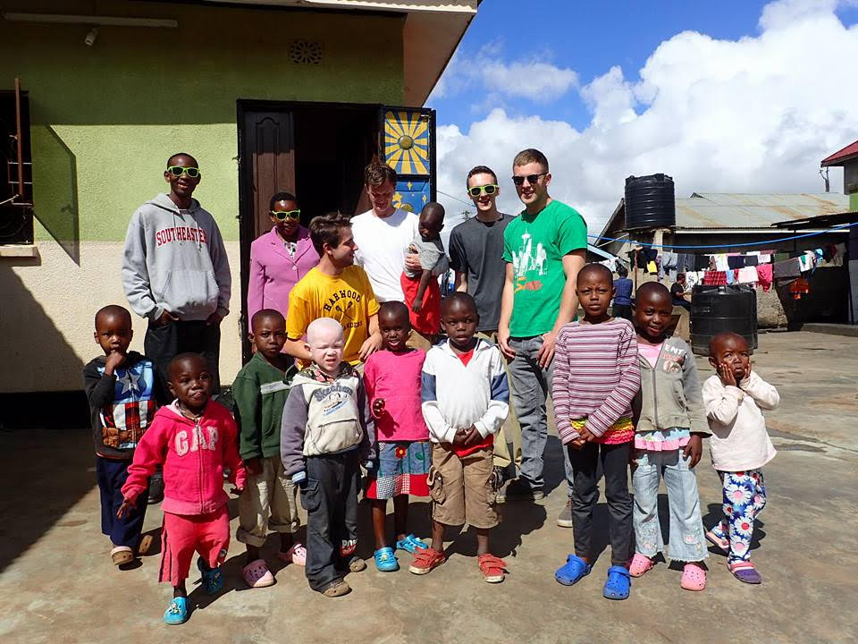 Vermont Tech students installed a solar water heater at Camp Joshua Christian School in Tanzania.