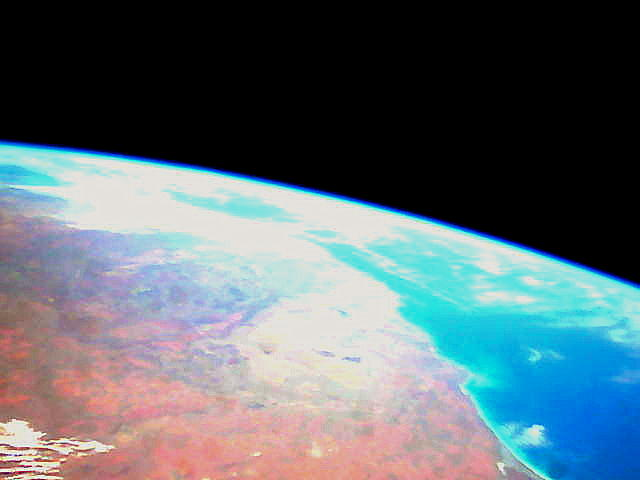 Earth as seen from Vermont Tech's previous CubeSat satellite.
