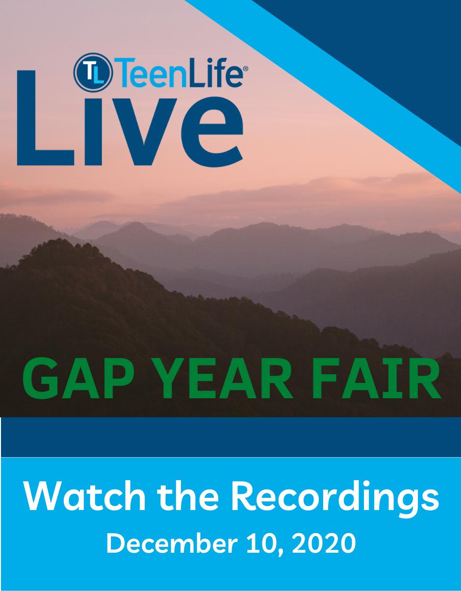Gap Year Fair, December 10, 2020