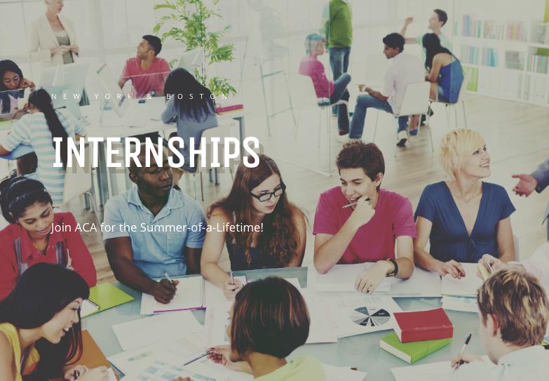 Summer Program - Internships | American Collegiate Adventures Internship Program
