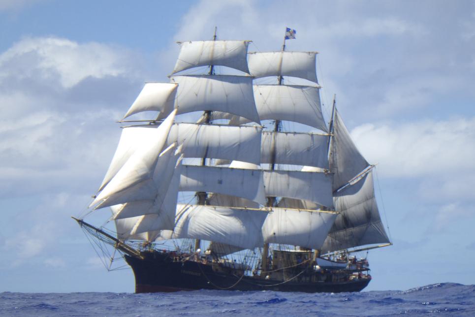 Barque Picton Castle Around the World Voyage