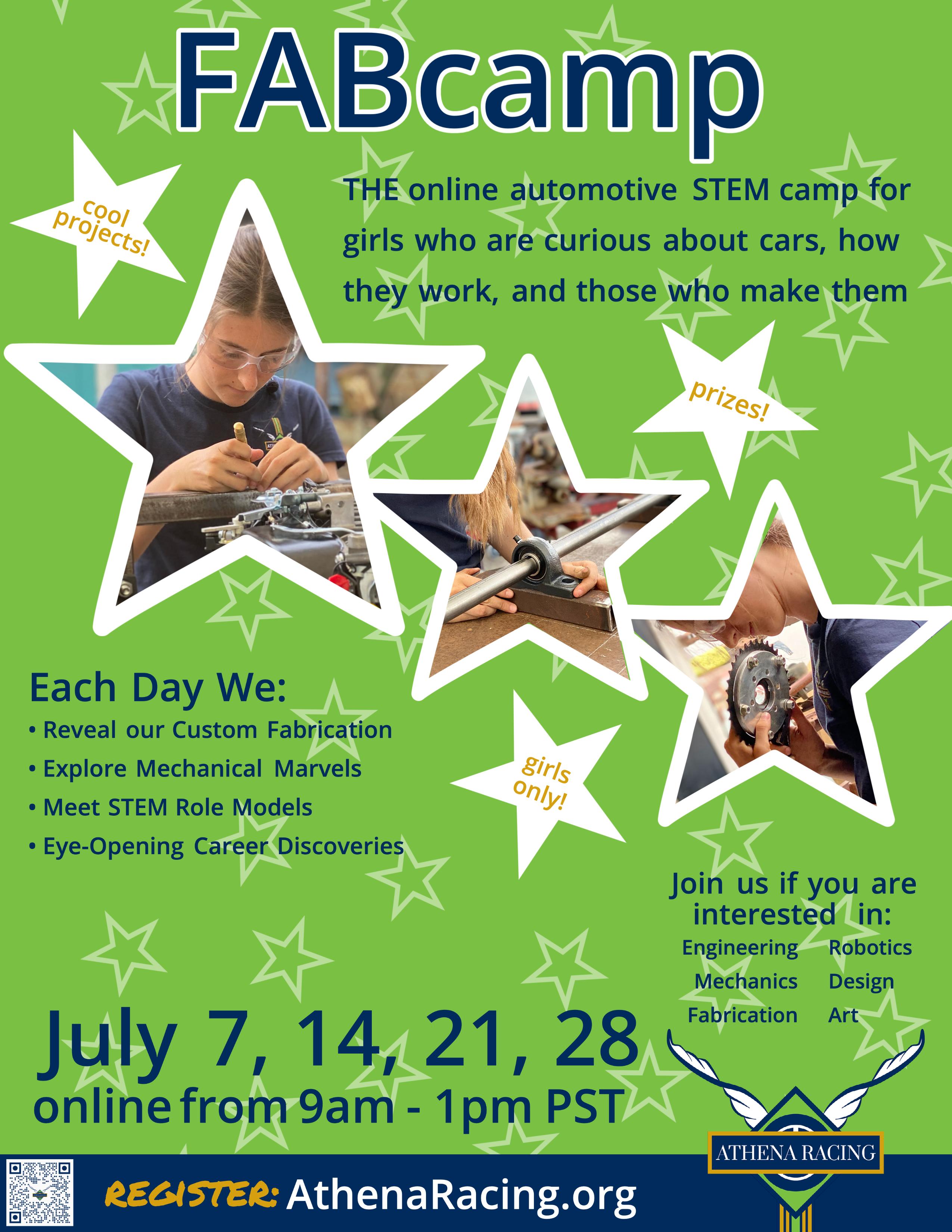 Summer Program -    FABcamp: Explore Design, Engineering, Fabrication & Entrepreneurship