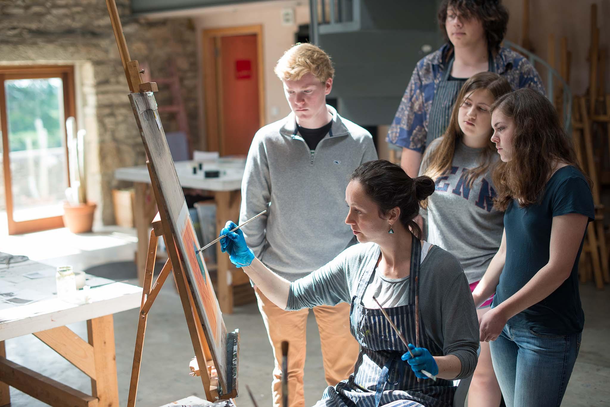 Gap Year Program - Cow House Studios: FieldWorks Gap Year Art Program  4