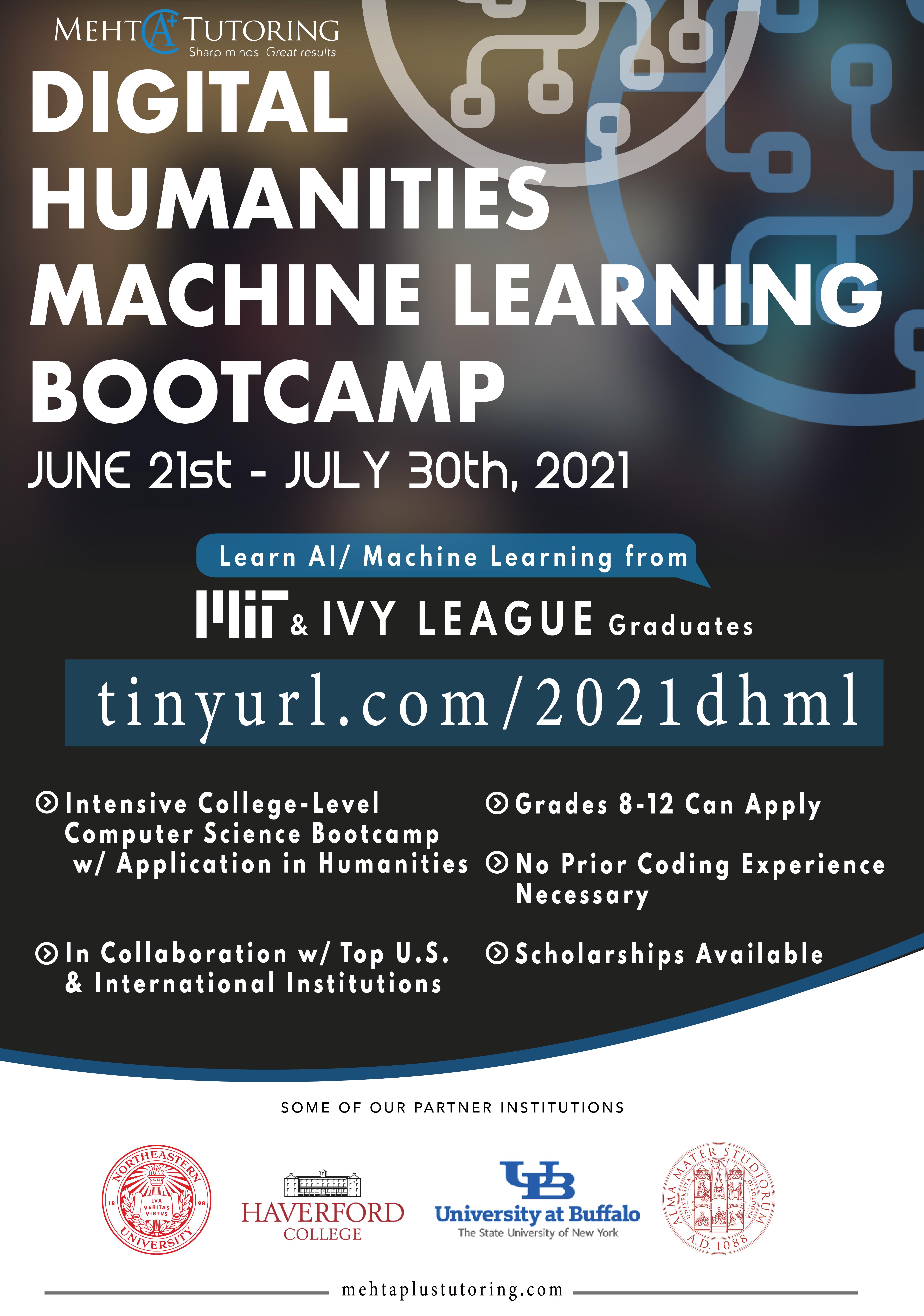 MehtA+ Digital Humanities Machine Learning Bootcamp