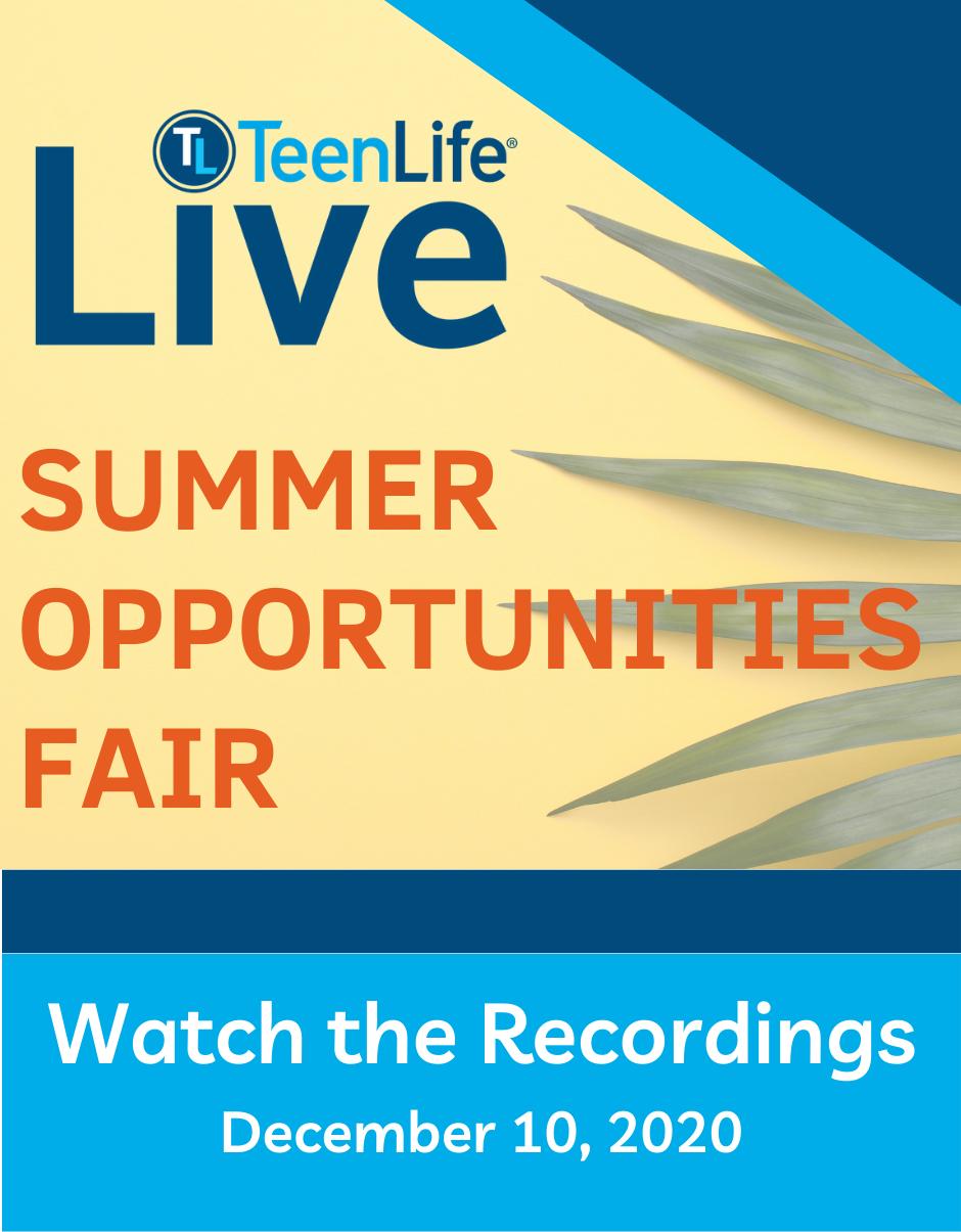 Summer Opportunities Fair, December 10, 2020