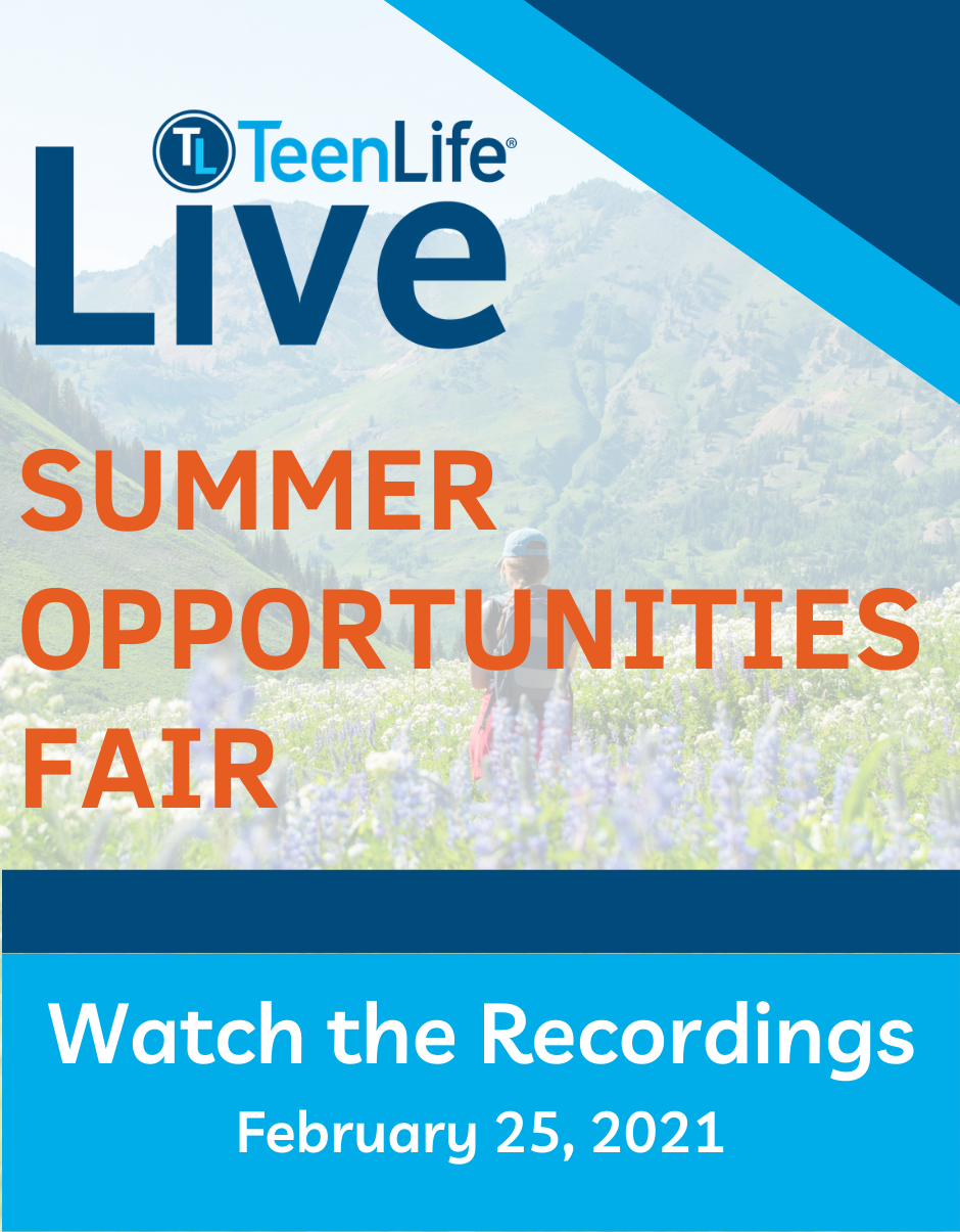 Virtual Fair: Summer Opportunities February 25, 2021-TeenLife